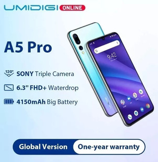 Umidigi A5 Pro 4gb Ram 2chip 32gb Tela 6.3 Pronta Entrega