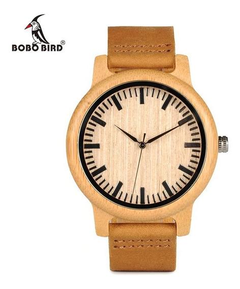 Relógio Unissex Bambu Madeira Analog. Bobo Bird A16 + Frete