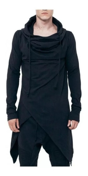 Sudadera Gabardina Larga Moda Para Hombre Estilo Ninja 4205
