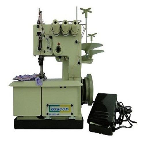 Máquina de costura semi industrial Bracob BC26003P branca 110V