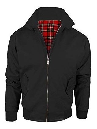 Jaqueta Harrington Inglesa Preta Uk Made In England Mod