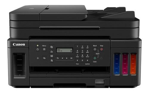 Imagem 1 de 5 de Impressora a cor multifuncional Canon Mega Tank G7010 com wifi preta 100V/240V