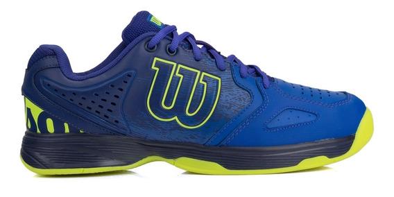 Tênis Wilson K Energy Azul E Verde Limão - All Court