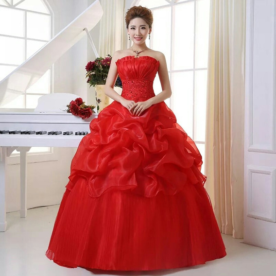 Vestido Quinceañera Nuevo Color Rojo De Importación