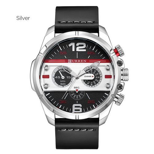 Curren 8259 Casual Relógio Moda Quartzo Relógio De Pulso Pra