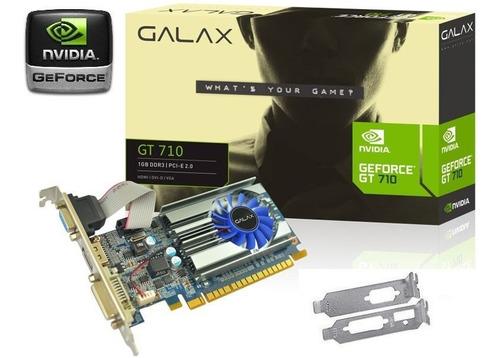 Placa Video Nvidia Geforce Gt710 1gb Ddr3 P/ Até 3 Monitores