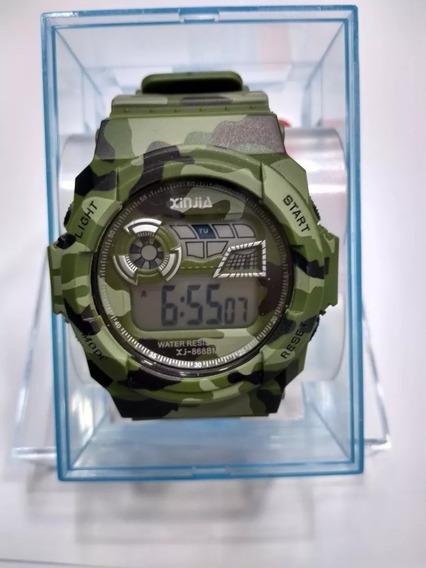 Relógio Esportivo Xinjia Camuflado Digital Estilo