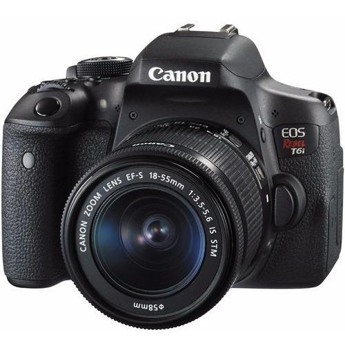 Câmera Canon Eos Rebel T6i C/ 18-55mm Stm 24.2mp 12x S/juros