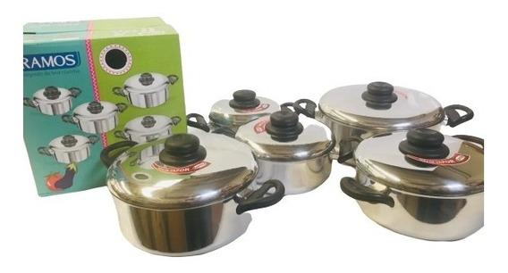 Set Bateria Cocina Ramos Siempra Olla Cacerola Caja Regalo