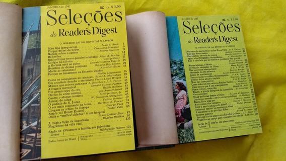 Seleções De Readers Digest Do Ano 1947 Encadernada Completa