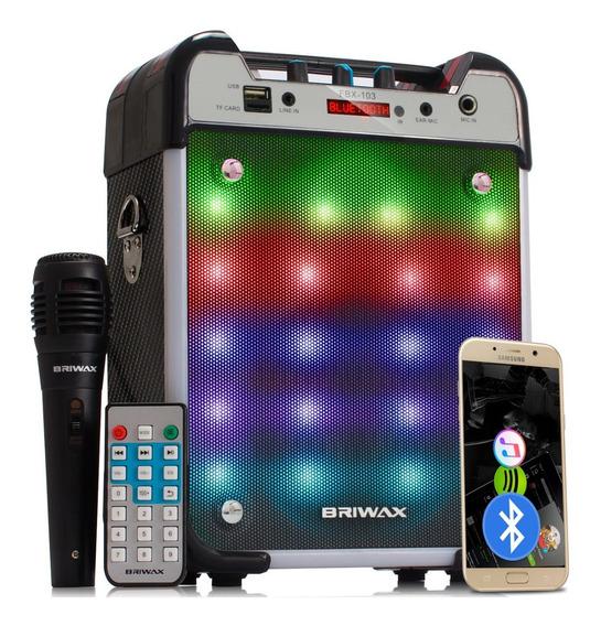Caixa De Som Potente 120 W Rms Bluetooth Sd Fm Portátil