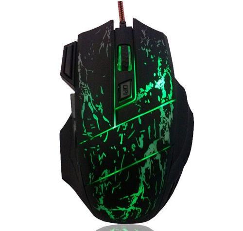Mouse Optico Gamer Fio Usb 7 Botões 3200dpi - Frete Grátis
