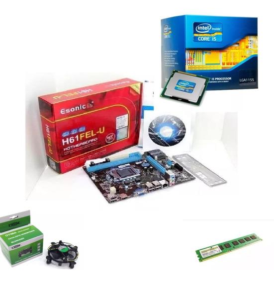 Kit Intel Core I5 3470 3.6 Ghz + Placa H61 + 8gb Ram Promo