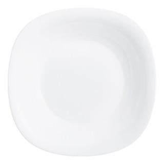 Plato Postre Cuadrado Luminarc Carine Vidrio Templado Extra Resistente Platos De Postre Por Unidad Blanco Negro - 19 Cm