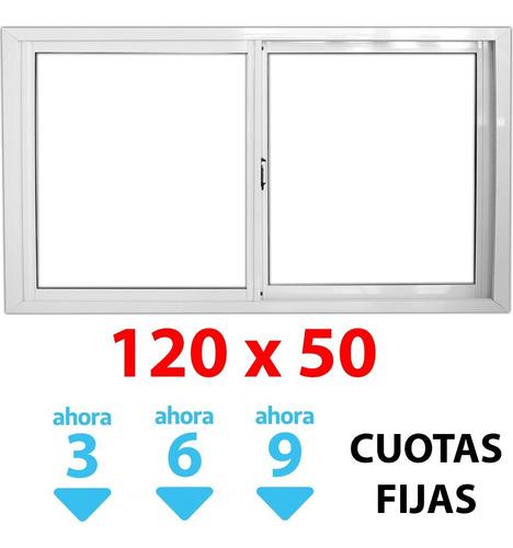 Imagen 1 de 5 de Ventana Corrediza Alum 120x50cm