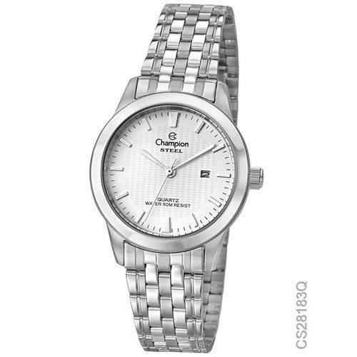 Relógio Champion Prata Feminino Steel Cs28183q