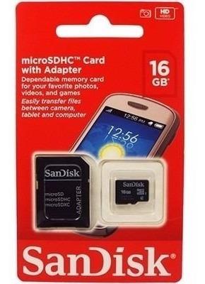 Cartão De Memoria 16gb Celular Tablet M.fotograf C/adaptador