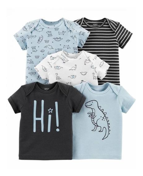 5 Camisetas Manga Curta Carters Nova Coleção Menina Tshirt