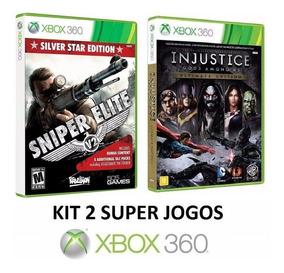 Sniper Elite V2 Star + Injustice - Midia Fisica - Xbox 360