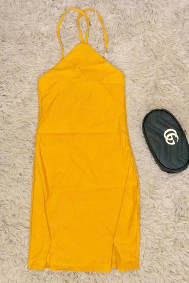 Vestido Mostaza (amarillo, Único (s-m))