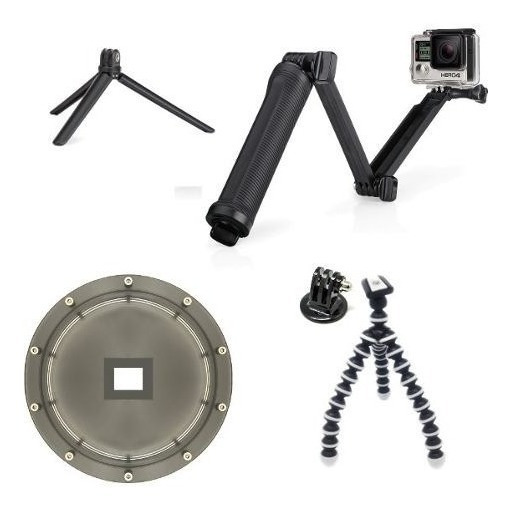 Dome Completo Kit Hero 5 6 7 Black Bastão 3 Way Tripé TriPod