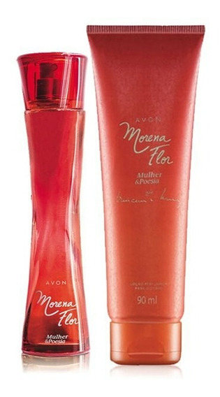 Promoção Avon Kit Morena Flor Mulher & Poesia Perfume + Hid