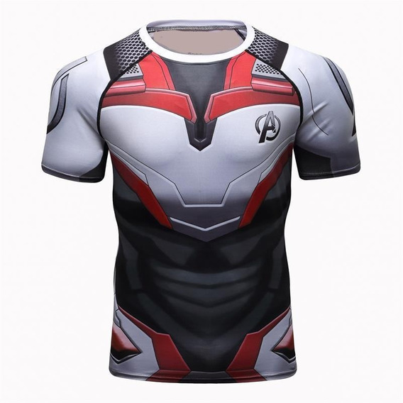 Camisa Compressão Masculina Vingadores Ultimato Camiseta Rashguard Blusa Slimfit Manga Curta