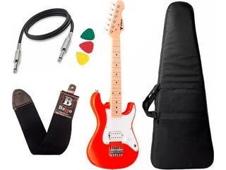 Guitarra Eletrica Phx Infantil Criança Isth Vermelho Afinado