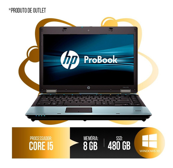 Notebook Hp Probook Intel Core I5, 8gb Ddr3, Hd Ssd 480gb 1ª