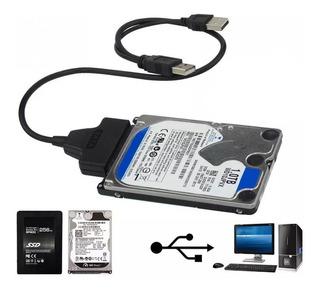 Cable Usb 2.0 A Sata 7+15pin Para Ssd Disco Duro 2.5 Laptop