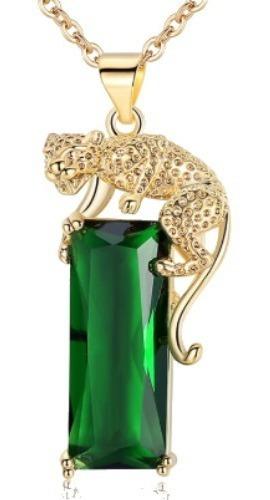 Colar Com Pedra Verde Cristal Turmalina