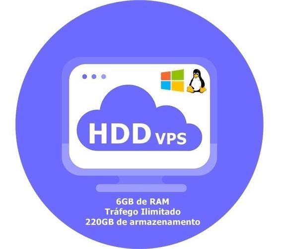 Servidor Vps / 6gb Ram / 220gb Hdd / 3x3.8ghz / Anti-ddos
