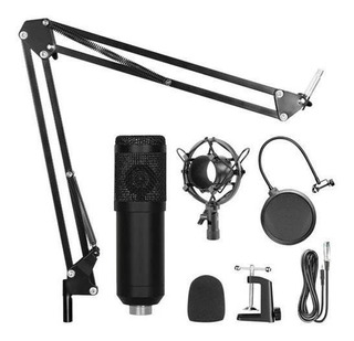 Kit Microfono Condenser Home Studio Streaming Gaming