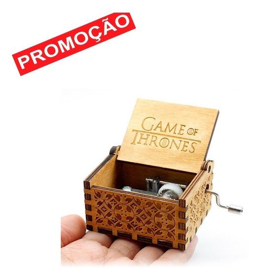 Caixa Caixinha De Musica Game Of Thrones Manivela - Marrom