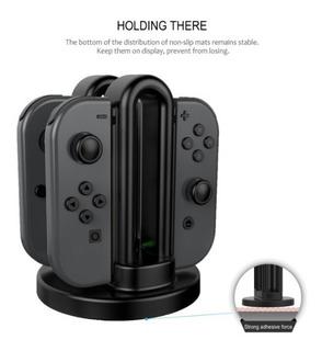 Accesorios Nintendo Switch Dock Cargador Para Joy Con Neon Splatoon Smash