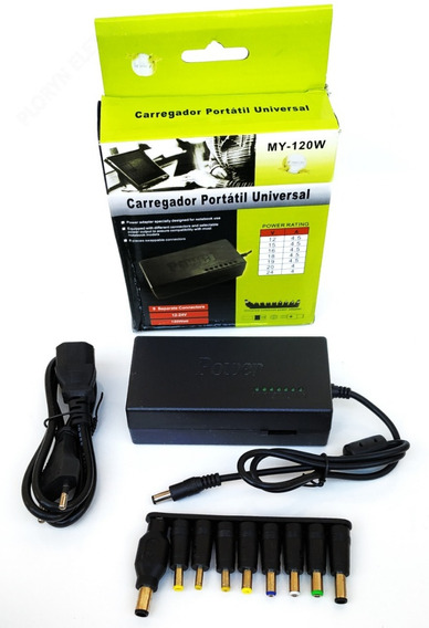 25 Carregador De Notebook Laptop Universal Tv Fonte 12/ 24v
