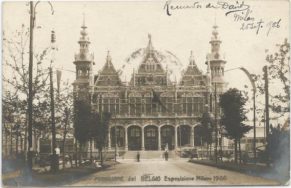 Antigua Postal Exposición Milan, Italia 1906