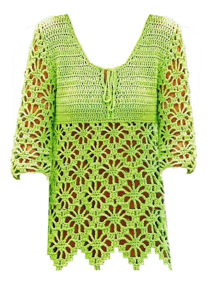 Remera Crochet Diseño Rombos