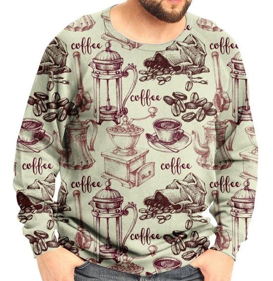 Moletom Raglan Unissex Café