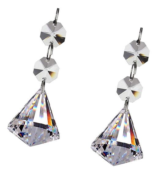 1 Pc Cristal Diamante Lustre Prismas Pingentes De Vidro Cris