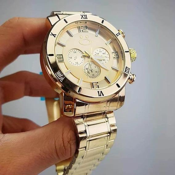 Relógio Orizom Prata E Dourado Original Spaceman Promoção