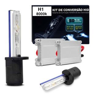 New Xênon H1 8000k 35w Luz Azul Plug And Play Com Reatores