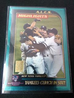 Yankees Clinch In Six Foto:derek Jeter,posada Topps2000 #405