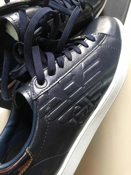 Sneakers Emporio Aemani De Piel 8 Mex Caja Cubrepolvo