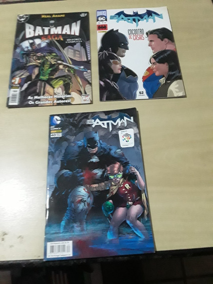 Hqs Batman + Batman Saga + Batman Encontro De Casais