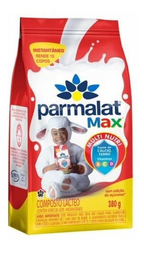 Imagem 1 de 1 de Composto Lácteo Instantâneo Parmalat Max Pacote 380g