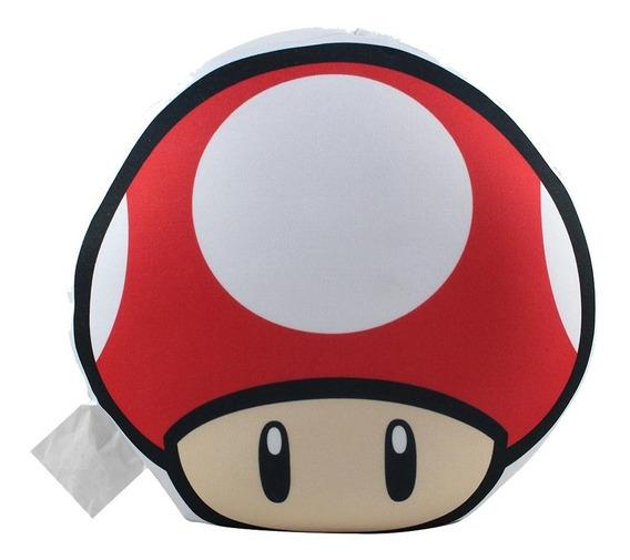 Almofada Zonacriativa Mário Cogumelo Up Vermelho Formato