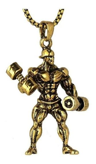 Cordão Musculação Fisiculturista Academia Ouro