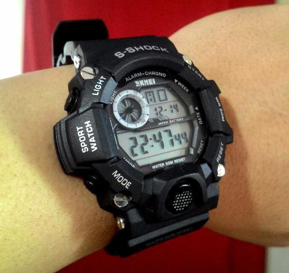 Relógio Skmei Modelo 1019 Masculino Cronômetro Digital