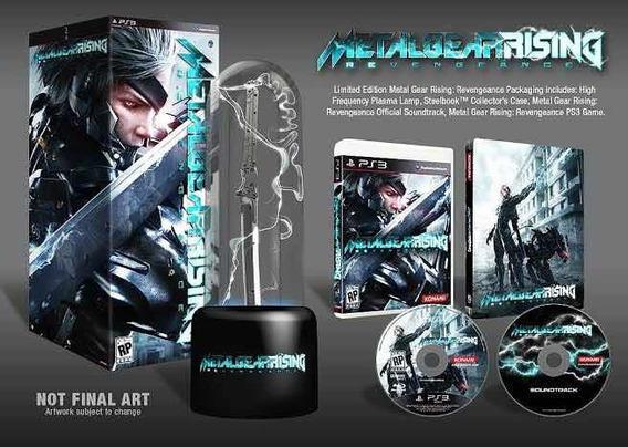 Ps3 Box Metalgear Rising Com Lâmpada De Plasma Novo Lacrado.
